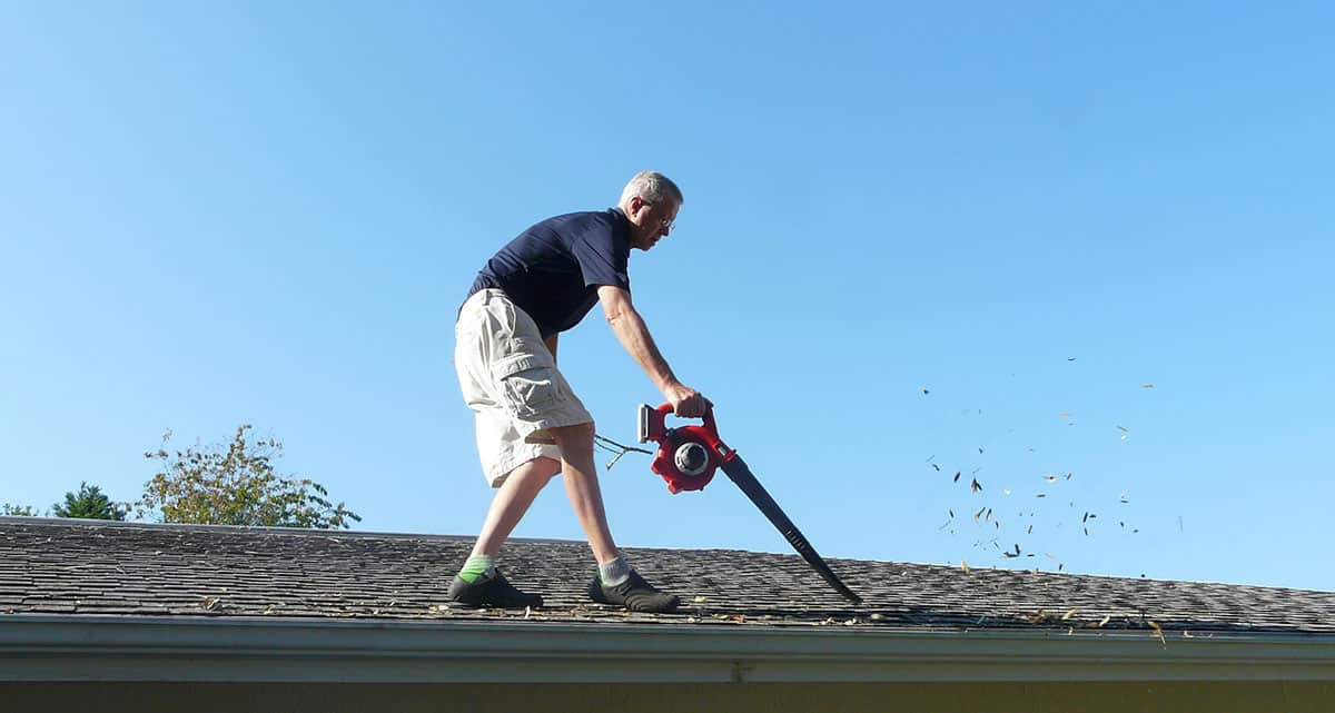 The Best Leaf Blowers for Cleaning Gutters – And How to Do It